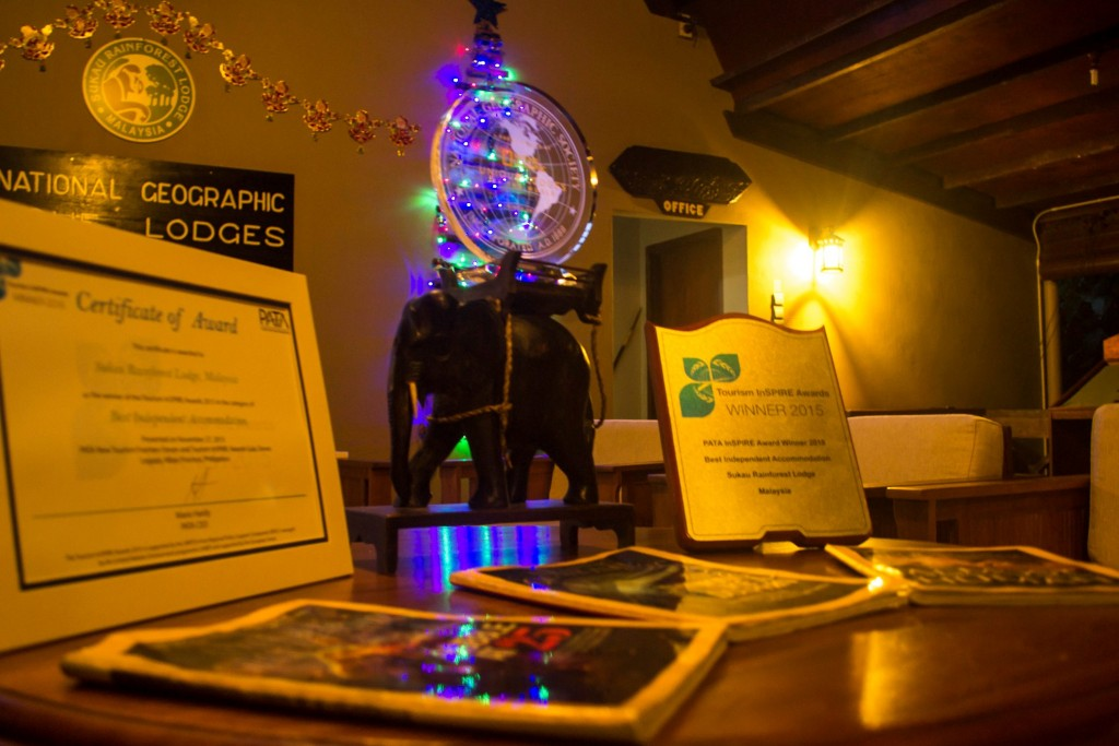 PATA award at the lodge