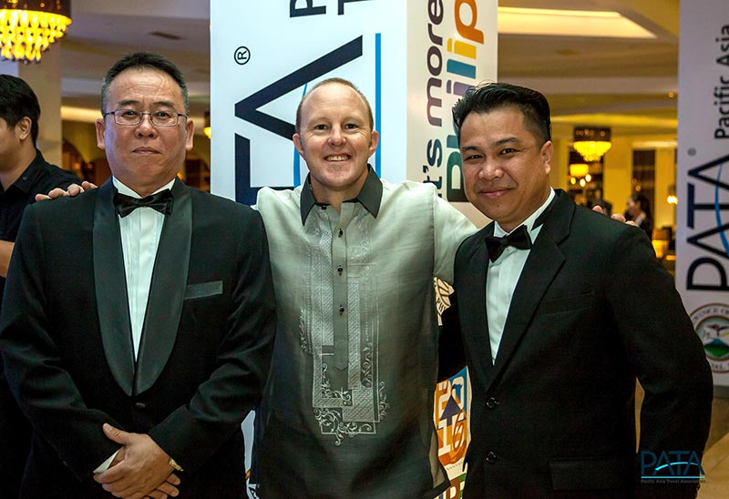 From left: Baton Bijamin, General Manager of Sukau Rainforest Lodge; Zane Smith, Development Manager and Ecotourism New Zealand Lead Innovation Consultant of Tai Poutini Polytechnic; and Mr. Henry Llames, Operation Manager of Borneo Rainforest Lodge. (Photo credit: PATA)