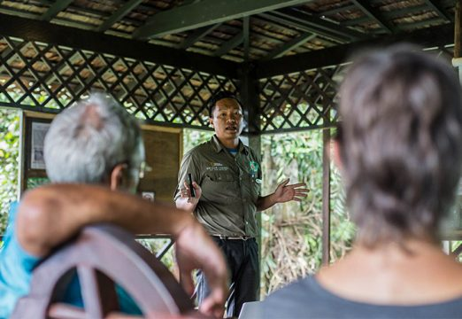 Orangutan talk presented by our Naturalist Guide