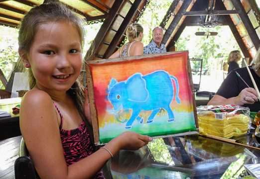 Batik Painting at Sukau Rainforest Lodge