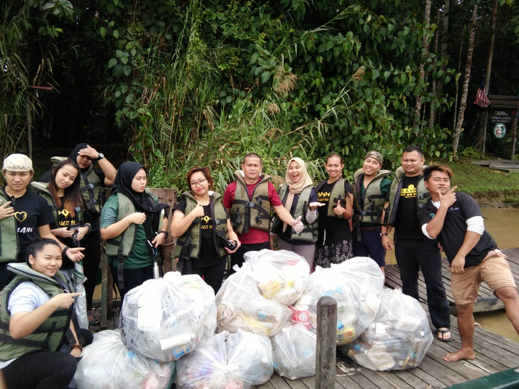 Sukau Rainforest Lodge's River Clean-Up Efforts in 2018 and 2019